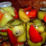 Перец болгарский с чесноком